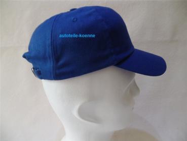 Mütze blau mit Anstoßkappe Base Ball Design Lüftungsöffnungen und Kopfband #