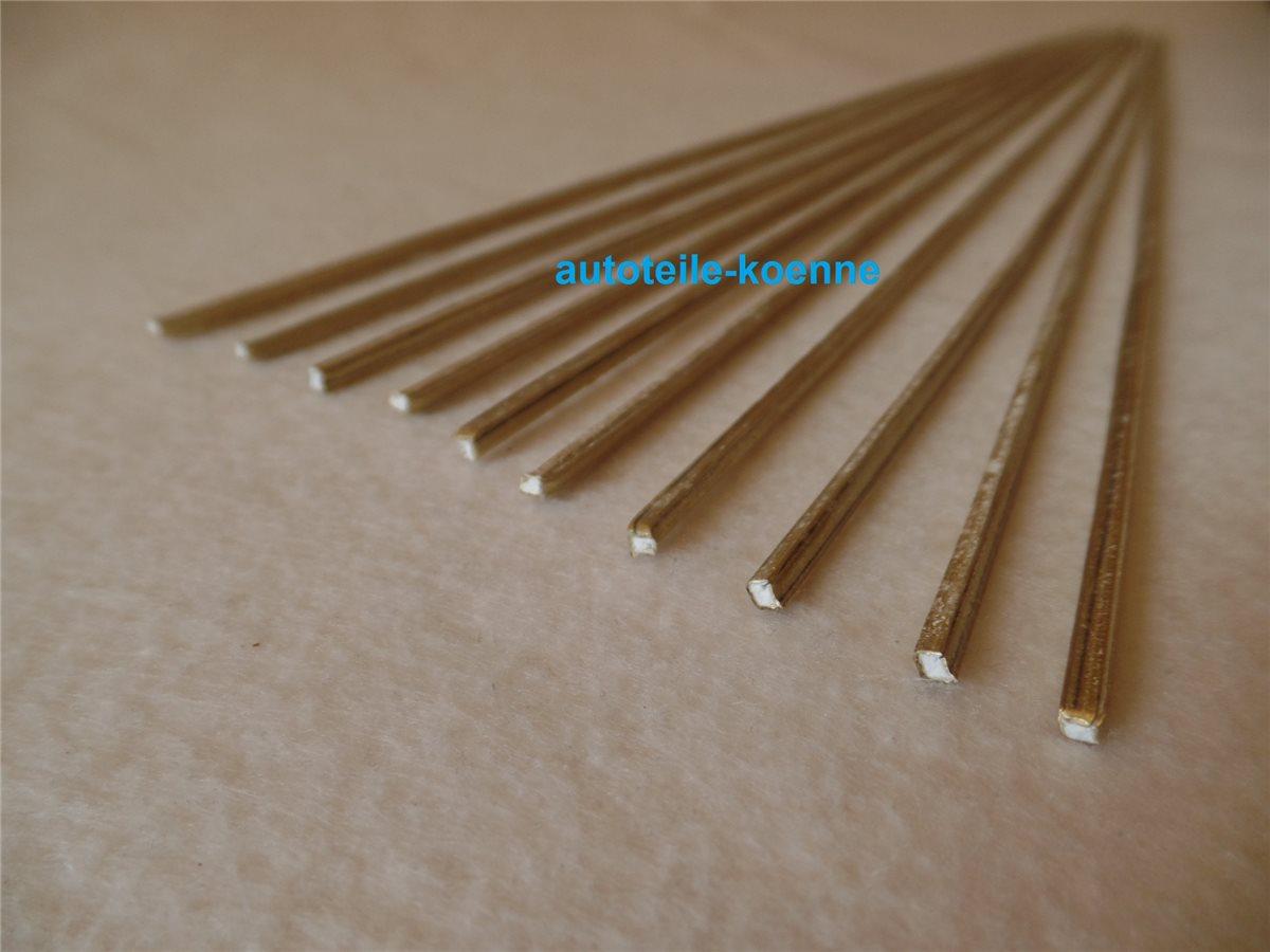 0,5Kg Messinghartlot HARTOGEN B-Cu60Zn flussmittelgef 2,5x2.5x500 mm 19gr.//Stab