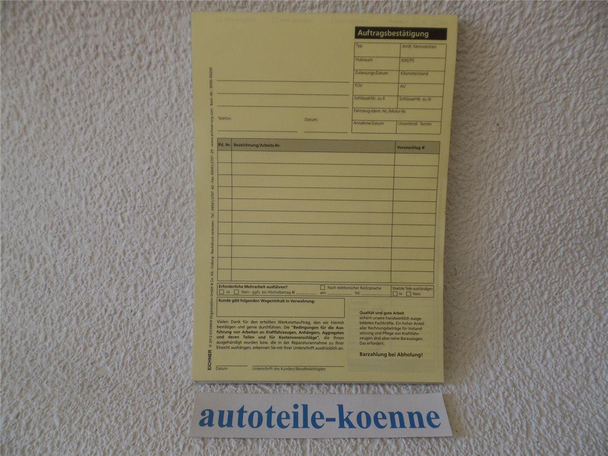 25x DIN A5 KFZ Reparatur Auftragskarten Arbeitskarten selbstdurchschreibend