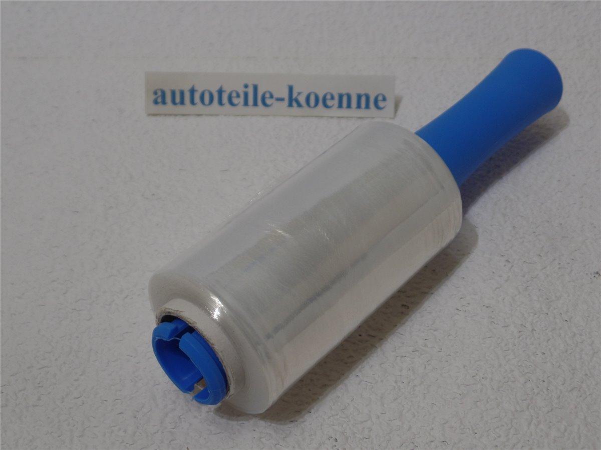 1 Abroller Wickelfolie Abrollset 1x Stretchfolie 300m Länge 12,5cm Breite incl