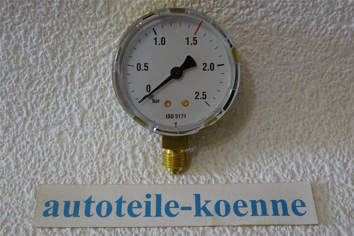 0-315bar EN 562 Ersatzmanometer 1//4 Inhaltsmanometer Sauerstoff